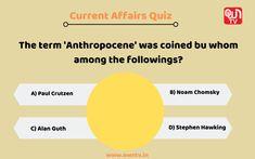 Current Affairs Quiz, Noam Chomsky, Stephen Hawking, Chart
