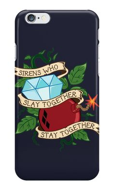 """Slay Together, Stay Together - Gotham City Sirens Clean"" iPhone Cases & Skins by skittzi 