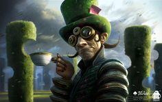Alice in Wonderland: Mad Hatter Concept, Michael Kutsche on ArtStation at https://www.artstation.com/artwork/kaxwl