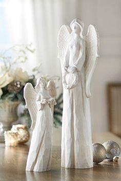 Beautiful angels add serenity to the season. #holiday2012 HomeDecorators.com