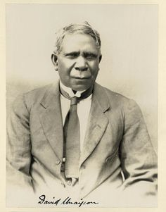 David Unaipon was the first Australian Aboriginal writer to have a book published in Australia.  Find more detailed information about this photograph:  http://acms.sl.nsw.gov.au/item/itemDetailPaged.aspx?itemID=431534  From the collection of the State Library of New South Wales www.sl.nsw.gov.au
