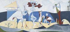 """PICASSO-""""LA JOIE DE VIVRE""""-1946 http://artplastoc.blogspot.fr/2011/10/44-picasso-la-joie-de-vivre.html"""