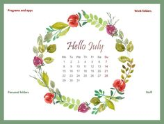 Beautiful, floral wallpaper for July 2019 Work Folders, Hello July, App, Graphic Design, Wallpaper, Floral, Beautiful, Florals, Wallpapers