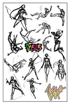 POSES- . by NebulaInferno.deviantart.com on @deviantART