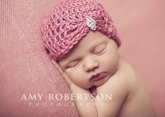 Baby Hat Newborn Hat Plum Wine Jewel Flapper by LittleLovesDesigns