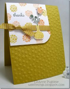 LeAnne Pugliese WeeInklings ColourQ 229 Bright Blossoms Thank You Stampin Up