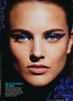 Cosmopolitan December 2012 -- thick glittery liquid liner