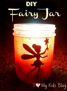 How to make a DIY Glowing Fairy Jar in under 10 minutes - This craft is very kid friendly and the result is super cool!