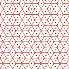 Red and white dice fabric design by Stoflab. Graphic Patterns, Textile Patterns, Textile Design, Fabric Design, Geometric Designs, Geometric Shapes, Surface Design, Textiles, Pretty Patterns