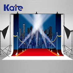 Night Lights Blue Curtain Stage Red Carpet Photography