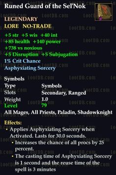 Faction item from RoK - it increases procs.
