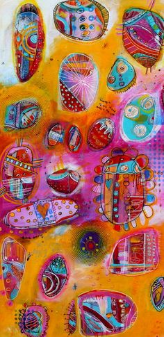 Look Deeply 18 x 36  Pods and Portal Collection  by by JodiOhl, $325.00 New fun abstract art in the shop today!