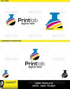 """Printlab Logo  #GraphicRiver         Printlab Logo is a busniness and professional logo, that shows a symbol of """"Vial"""", suitable to any kind of companies and agencies.  Featured : – Ai CS2 document / EPS CS2 . – CMYK – 100%. – Easy to edit color / text.  Fonts used : Nexa & Arial  .myfonts /fonts/font-fabric/nexa/  .myfonts /fonts/microsoft/arial/  Note: (The mock up file is not included, that's only for preview purpose)!     Created: 24July13 GraphicsFilesIncluded: TransparentPNG #VectorEPS…"""