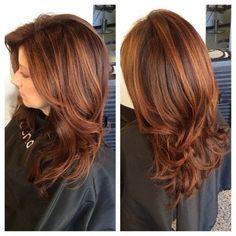 Golden Chestnut with Fine Curls