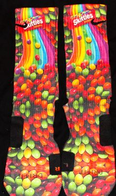 Skittles Custom Nike Elite Socks by EliteHeadquarters on Etsy, $27.99
