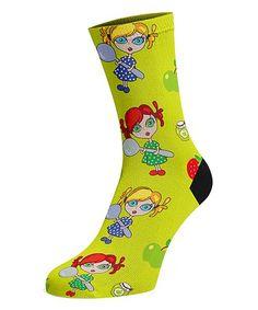 This Yellow Jams Socket Socks - Women is perfect! #zulilyfinds Silly Socks, Yellow, Women, Women's, Woman, Gold