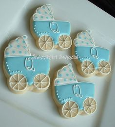 Baby shower cookies  baby stroller cookies  by SweetArtSweets, $72.00
