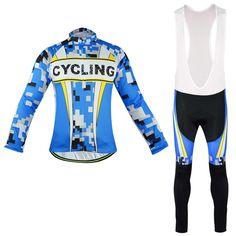 Blue Cycling Jerseys Suit Pro Cycling Clothing Cycling Jersey Set/Race Bike Racing Sportswear Cycling Set #Affiliate