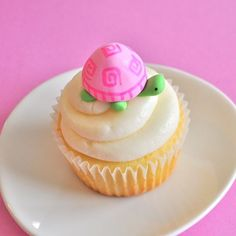 Pink 3D Turtle Fondant Cupcake Toppers for Birthday Parties and Other Events. $24.00, via Etsy.