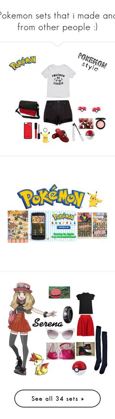 """""""Pokemon sets that i made and from other people :)"""" by mermaid-princess-loves-music ❤ liked on Polyvore featuring Hot Topic, rag & bone, Forever Collectibles, Gucci, MAC Cosmetics, Nintendo, art, Proenza Schouler, Casetify and Frame"""