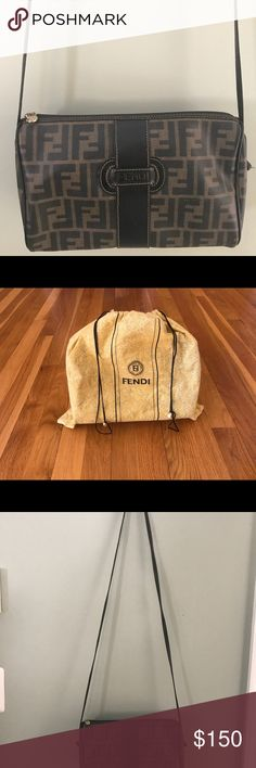 Fendi crossbody bag Authentic Fendi crossbody bag, matching wallet included as well as dust cover. Purse in great condition. Wallet has some more wear and tear. Fendi Bags Crossbody Bags