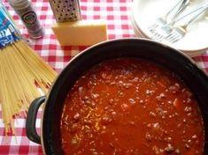 ~ Spaghetti all'amatriciana Carbonara Pasta Sauce, Slow Cooker Bolognese, Spaghetti Bolognese, Healthy Pasta Recipes, Real Food Recipes, Healthy Food, Spaghetti All Amatriciana, Weigt Watchers, Creamy Spaghetti