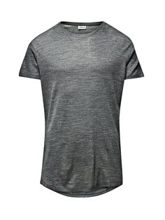 PREMIUM by JACK & JONES - Schlichtes T-Shirt von PREMIUM - Slim fit - Crew Neck - Länger am Rücken 90% Baumwolle, 10% Viskose...