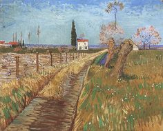 Vincent van Gogh: Path Through a Field with Willows  Oil on canvas  31.5 x 38.5 cm.  Arles: April, 1888