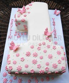 1 yaş pastası - 1st birthday cake - kelebekli pasta - butterfly cake mutludilimler.blogspot.com www.facebook.com/mutludilimlerpastacilik