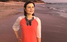 Dress: Hazel Comyn.