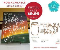 Fireflies design on sale through August 7, 2016 - Kimberly.uppercaseliving.net  #masonjar #summertime #fireflies #uppercaseliving