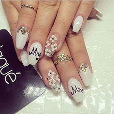 """""""Wedding nails  #Laque #laquenailbar #getlaqued"""""""