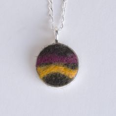 Sterling silver custom felted pet hair pendant made with your pet's hair, with love, by Small Saints.
