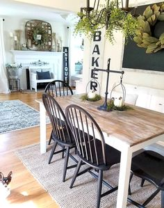 Farmhouse Dining Room Table, Country Farmhouse Decor, French Country Decorating, Farmhouse Style, Outdoor Lounge, Style At Home, Deco Nature, Minimalist Bedroom, My Living Room