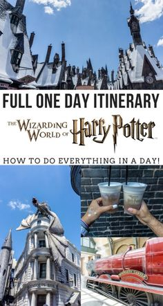 Only have 1 day at Harry Potter world? Here's a perfect one day itinerary for you and your family! Where you can do everything in just a day! - Florida Travel Tips, Harry Potter World Tips Universal Orlando, Universal Studios Outfit, Disney Universal Studios, Universal Studios Florida, Harry Potter Welt, Harry Potter Thema, Harry Potter Shirts, Orlando Travel, Orlando Vacation