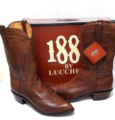 LUCCHESE N1596 MEN'S BURN RANCH LEATHER WESTERN COWBOY BOOTS 11.5 D | eBay