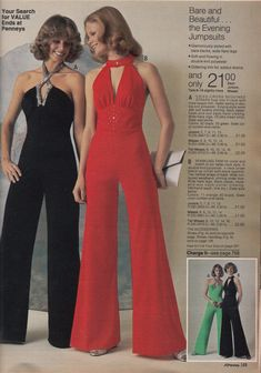 Jumpsuit - It is a garment that includes pants and a top all in one connected ou. - Jumpsuit – It is a garment that includes pants and a top all in one connected outfit. It is a unis - 70s Outfits, Vintage Outfits, 70s Inspired Fashion, 60s And 70s Fashion, Retro Fashion, Vintage Fashion, Seventies Fashion, Color Fashion, Petite Fashion