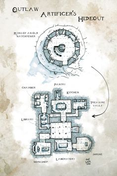 [Map] The Outlaw Artificers' Hideout