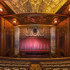 Paramount Theatre, Oakland  On any given night, you might hear rock 'n' roll, R & B, gospel, or soul inside. Each month, classic films flicker across the screen.