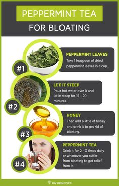 How to use Peppermint Tea for Bloating - DIY Natural Home Remedies  Drinking peppermint tea regularly will not only to cure gas or bloating but also helps for treating overall health problems. #Health #Bloating #Gas