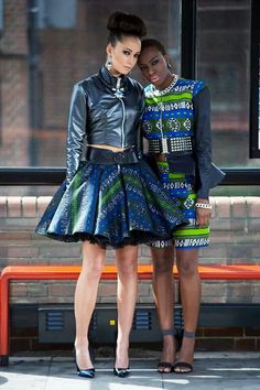 House of Adjeiwaah 2014 collection–I'd wear the one on the left, but that other one...I'll pass
