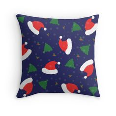 """""""Christmas is in the Air"""" Throw Pillows by jollybirddesign 