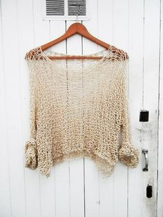 Sweater Oversize/Womens Clothing Women Shirt Women Blouse Plus Size Blouse Petite Maternity Sweater O Neck Sweater Casual Top Loose Knit Sweaters, Maternity Sweater, Knitted Poncho, Knitting Designs, Handmade Crafts, Hand Knitting, Blouses For Women, Knitting Patterns, Knit Crochet