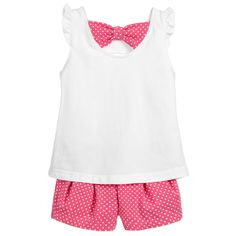 Mayoral - Girls Pink Top & Shorts Outfit | Childrensalon
