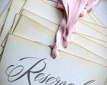 Reserved wedding signs set of 10