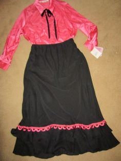 1900s VICTORIAN Edwardian Titanic Music Man pink top/black skirt costume 3X 26…