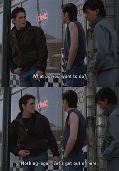 The Outsiders. i love this book & movie <3 I always say this when I'm asked that question!