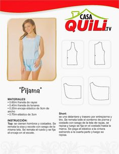Quili Pijama 1 - Mary N - Álbumes web de Picasa Lingerie Patterns, Clothing Patterns, Sewing Patterns, Web Gallery, Sewing Hacks, Sewing Tips, Free Sewing, Underwear, Album