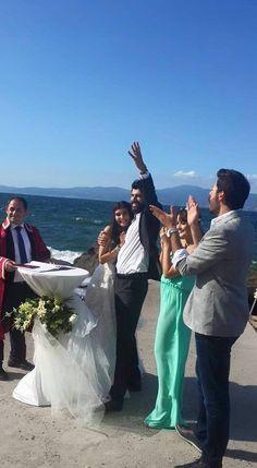 The Wedding - Tuba Buyukustun as Elif and Engin Akyürek as Omer in the Turkish TV series KARA PARA ASK, 2014-2015.