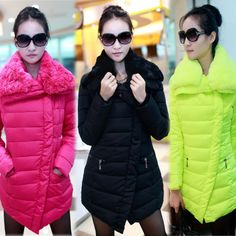 Discount NEW Korean style ladies' down jackets fur collar slim thick outerwear Down & Parkas coats in women down parkas on sightface.com